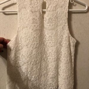 Monteau white patterned tank